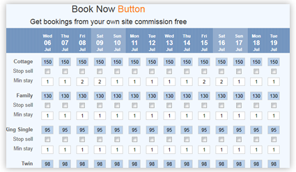 Book Now Button Channel Manager Integration